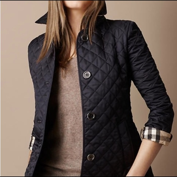 Xs Burberry Brit Copford Diamond Quilted Jacket