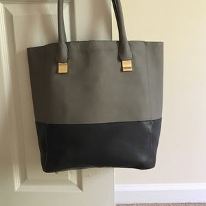Faux leather school bag