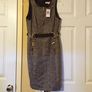 NWT gorgeous chocolate houndstooth dress