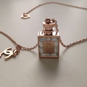 Jewelry Chanel Perfume Bottle Necklace Rose Gold Poshmark