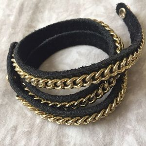 Wanderlust & Co. Jewelry - Leather & Chain Wrap Bracelet