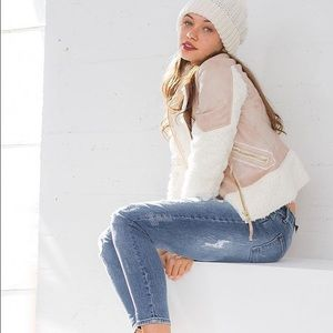 Blush Ivory Faux Fur Jacket