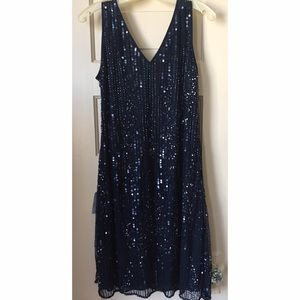 Patra Dresses & Skirts - Navy blue beaded cocktail dress