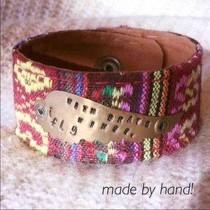 Jewelry - Ethnic Cuff bracelet, hand made & stamped