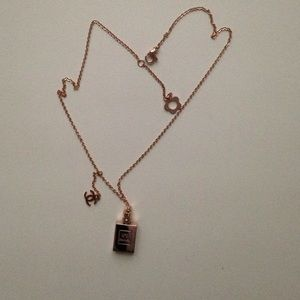 50 off Jewelry Chanel Perfume Bottle Necklace Rose Gold Poshmark