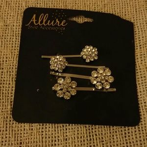 NWT RHINESTONE HAIR PINS