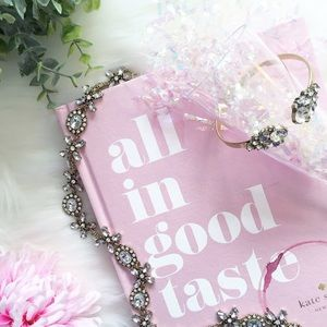 "Erica Rose Jewelry - ""Isla"" Bracelet    Clear Crystal & Gold Cuff"