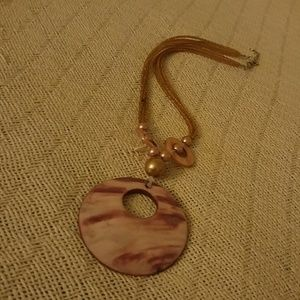 Hand made Rose stone necklace.