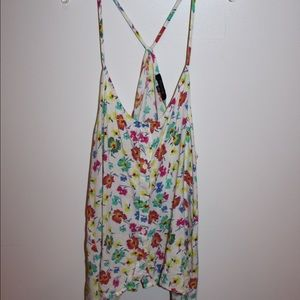 Flowy floral tank top
