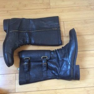 Enzo Angiolini Shoes - Enzo Black Leather Boots