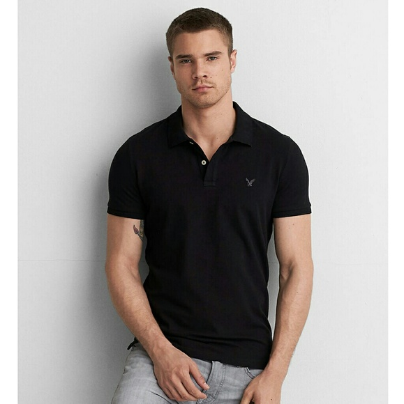 77f2896a American Eagle Outfitters Other - American Eagle AEO Athletic Fit Polo  Shirt Black L