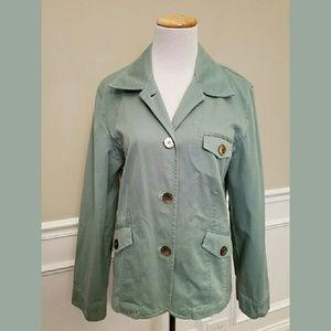 J. Jill Mint Green Cotton Jacket