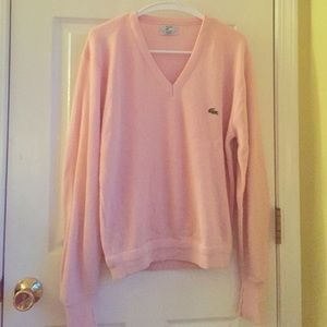 Oversized vintage pink Lacoste sweater