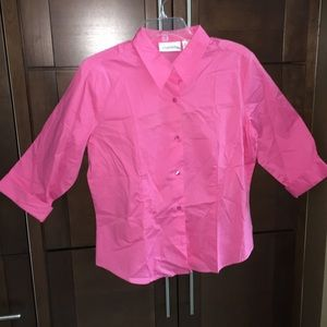 Chadwicks Tops - NEW! Pink cotton blouse
