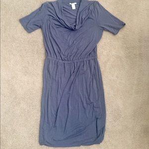 White + Warren Dresses & Skirts - Super soft faux wrap cowl neck dress