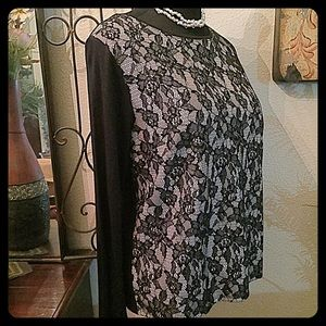Chico's Tops - 30% OFF BUNDLES💐Chico's Long Sleeve Lace Top💐