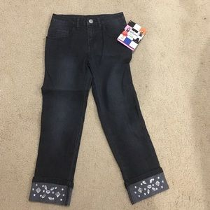 Girls Cropped Jeans NWT