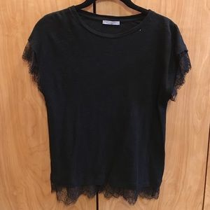 Zara Cotton and Lace top
