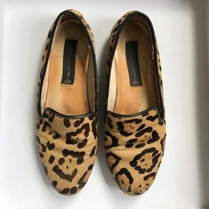 Used leopard printed loafers