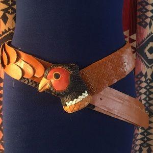 Incredible vintage bird belt!
