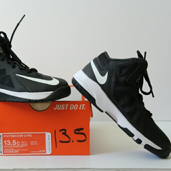 size 40 750f9 bbb93 NWOB Nike Little Boy Black White Sneakers sz 13.5c