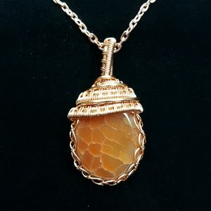 Handmade Jewelry - FIRE AGATE: protector, calms, safety, creative