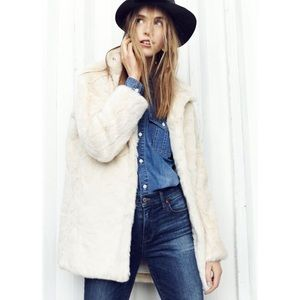 Madewell Stagedoor Faux-Fur Coat