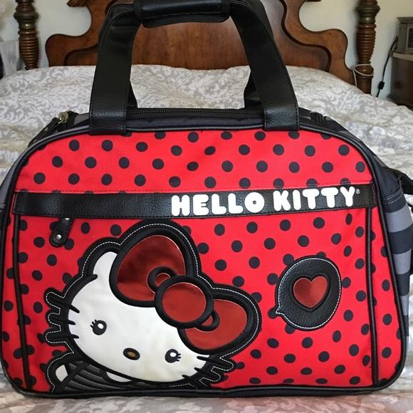 224936c24 Bags | Large Hello Kitty Travel Bag | Poshmark