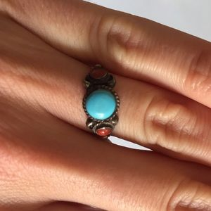 Jewelry - Metal and stone ring size 6-6.5