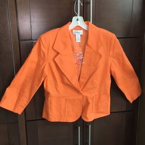 Chadwicks Jackets & Blazers - NEW! Orange blazer