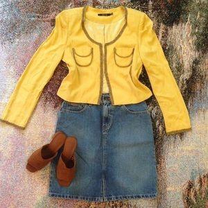 Vintage urban beaded cropped jacket blazer coat