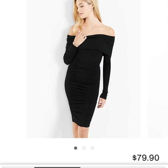 Express Dresses Off The Shoulder Sweater Dress Poshmark