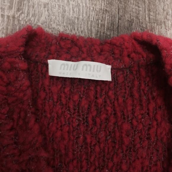 Miu Miu Sweaters - VINTAGE MIU MIU CROP CARDIGAB SWEATER