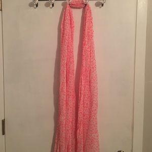 Neon pink cheetah scarf