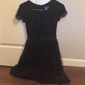 Lace and tulle party dress.