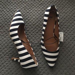 NWT H&M Striped Pumps Heels