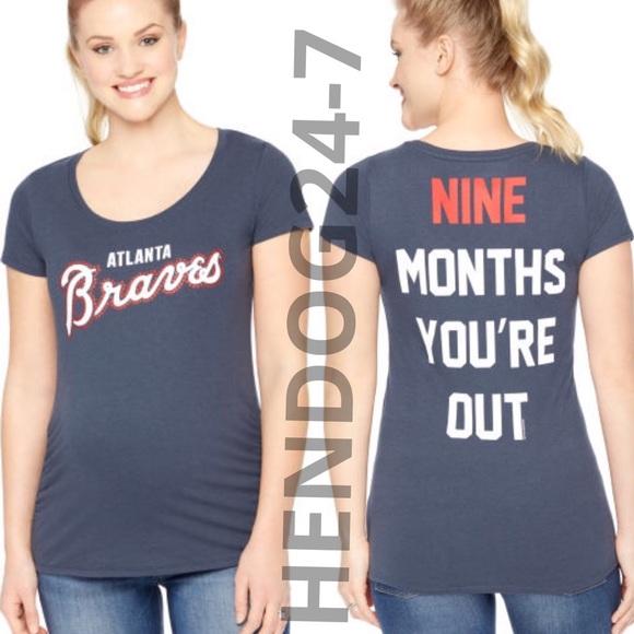 5119fa2458890 Motherhood Maternity Tops | Mlb Atlanta Braves Tee | Poshmark