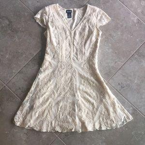 ALLOY Dresses & Skirts - Alloy apparel off-white/cream lace mini dress, S