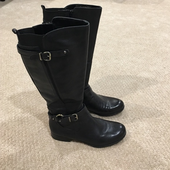 c65863c601d9 Black Tall Leather Boots