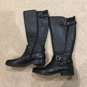 1b31c09baa55 Naturalizer Shoes - Black Tall Leather Boots