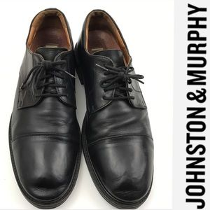 Johnston & Murphy Other - Johnston Murphy Black Leather Lace Up Shoes
