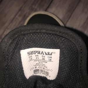 Supra Shoes - Boys black Supra size 12