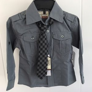 Sovereign Code Other - NWT Boy Gray Dress Shirt and Tie
