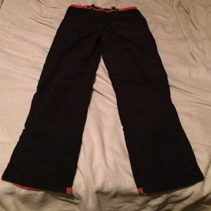 Dark blue with orange trim comfy pants