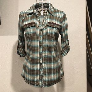Decree brand button up blouse in size small