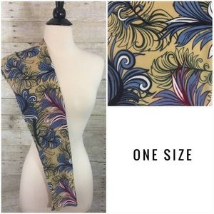 Lularoe OS NWT unicorn floral filigree leggings