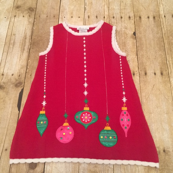 Toddler Christmas Dress.Bonnie Jeans Toddler Girl Sz 4 Christmas Dress