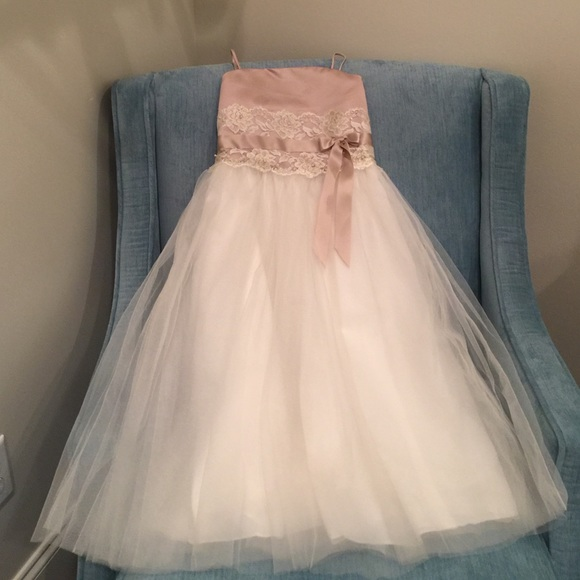 dc9bc9eec7 David s Bridal Other - Champagne and cream flower girl dress