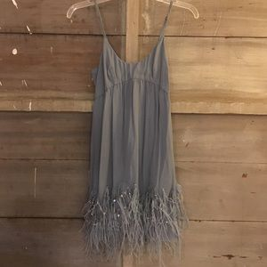 Feather and sequin party dress