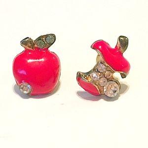 🍎👂🏼Red Apple Post Earrings